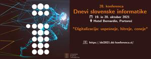 Najava prispevkov za konferenco DSI2021